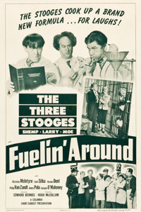 """The Three Stooges in Fuelin' Around (Columbia, 1949). One Sheet (27.25"""" X 41"""")"""