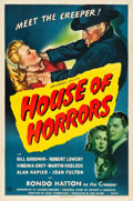 "Movie Posters:Horror, House of Horrors (Universal, 1946). One Sheet (27"" X 41"").. ..."