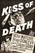 "Movie Posters:Film Noir, Kiss of Death (20th Century Fox, 1947). Full-Bleed One Sheet (26"" X39.5"").. ..."