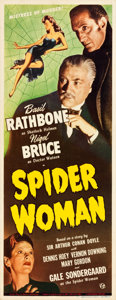 "Movie Posters:Mystery, The Spider Woman (Universal, 1944). Insert (14"" X 36"").. ..."