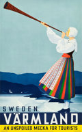 """Movie Posters:Miscellaneous, Sweden Travel Poster (Swedish Traffic Association, Stockholm, 1936). Full-Bleed Poster (24.5"""" X 39"""").. ..."""