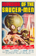 "Movie Posters:Science Fiction, Invasion of the Saucer-Men (American International, 1957). OneSheet (27"" X 41"").. ..."