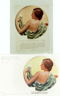 Books:Prints & Leaves, [Advertising]. One Photographic Transparency and One Magazine Clipping featuring 1931 Martex Towel Advertisement. Published ...