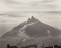 WILLIAM CLIFT (American, b. 1944) Shadow Stream, Mt. St. Michel, France, 1982 Gelatin silver 5-5/