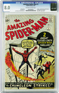 Silver Age (1956-1969):Superhero, The Amazing Spider-Man #1 (Marvel, 1963) CGC VF 8.0 Off-white towhite pages. A great-looking copy of the first issue of the...