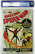 Silver Age (1956-1969):Superhero, The Amazing Spider-Man #1 (Marvel, 1963) CGC FN+ 6.5 Off-whitepages. A fine (...plus!) copy of the first issue of the most-...