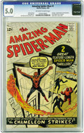 Silver Age (1956-1969):Superhero, The Amazing Spider-Man #1 (Marvel, 1963) CGC VG/FN 5.0 Off-white towhite pages. There's no end in sight to the popularity o...