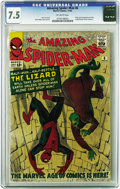Silver Age (1956-1969):Superhero, The Amazing Spider-Man #6 (Marvel, 1963) CGC VF- 7.5 Off-white pages. Nobody beats the Lizard when it comes to pathos-packed...