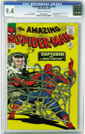 Silver Age (1956-1969):Superhero, The Amazing Spider-Man #25 (Marvel, 1965) CGC NM 9.4 Off-white towhite pages. Mary Jane Watson's first panel appearance was...