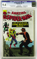 Silver Age (1956-1969):Superhero, The Amazing Spider-Man #26 (Marvel, 1965) CGC NM 9.4 Off-whitepages. In the Green Goblin's fourth appearance, he has to bat...