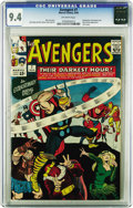 Silver Age (1956-1969):Superhero, The Avengers #7 (Marvel, 1964) CGC NM 9.4 Off-white pages. Thissuperb copy is tied for the highest grade yet assigned by CG...