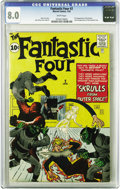 Silver Age (1956-1969):Superhero, Fantastic Four #2 (Marvel, 1962) CGC VF 8.0 White pages. This isthe nicest copy we've ever offered of this issue, it's very...