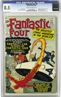 Silver Age (1956-1969):Superhero, Fantastic Four #3 (Marvel, 1962) CGC VF+ 8.5 Off-white to whitepages. This is the best copy of this issue we've ever offere...