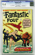 Silver Age (1956-1969):Superhero, Fantastic Four #4 (Marvel, 1962) CGC NM 9.4 Off-white to whitepages. Here's a beautiful NM copy of one of the most signific...