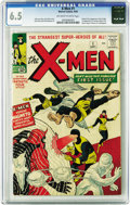 Silver Age (1956-1969):Superhero, X-Men #1 (Marvel, 1963) CGC FN+ 6.5 Off-white to white pages. Thedream team of Stan Lee and Jack Kirby joined forces again ...
