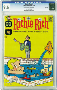 Richie Rich #1 File Copy (Harvey, 1960) CGC NM+ 9.6 Cream to off-white pages. If you're a Harvey collector, bookmark thi...