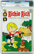 """Silver Age (1956-1969):Superhero, Richie Rich #2 (Harvey, 1961) CGC VF/NM 9.0 Off-white pages. Richie""""roughs it"""" in the usual Rich family style -- complete w..."""