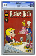 Silver Age (1956-1969):Horror, Richie Rich #9 File Copy (Harvey, 1962) CGC VF 8.0 Off-white pages.Little Dot and Little Lotta also appear. Overstreet 2006...