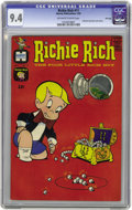 Silver Age (1956-1969):Humor, Richie Rich #11 File Copy (Harvey, 1962) CGC NM 9.4 Off-white towhite pages. Little Dot and Little Lotta join Richie inside...