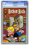 Silver Age (1956-1969):Humor, Richie Rich #14 File Copy (Harvey, 1962) CGC VF/NM 9.0 Cream to off-white pages. Richie's comic book collection seen on cove...