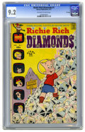 Bronze Age (1970-1979):Humor, Richie Rich Diamonds #1 File Copy (Harvey, 1972) CGC NM- 9.2Off-white to white pages. Warren Kremer cover. Overstreet 2006 ...