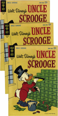 Uncle Scrooge #42 Multiple Copies Group (Gold Key, 1963) Condition: Average VF. Fifteen copies are included here. Overst...