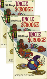 Uncle Scrooge #59 Multiple Copies (Gold Key, 1965) Condition: Average VF. Ten copies are included here. Overstreet 2006...