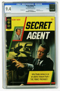 Silver Age (1956-1969):Adventure, Secret Agent #1 File Copy (Gold Key, 1966) CGC NM 9.4 Off-white to white pages. Patrick McGoohan photo front and back covers...