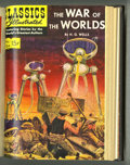 Golden Age (1938-1955):Classics Illustrated, Classics Illustrated #113-126 Bound Volume (Gilberton, 1953-55). Anadaptation of H. G. Wells' War of the Worlds is one ...