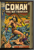 Bronze Age (1970-1979):Miscellaneous, Conan the Barbarian #1-48 Bound Volumes (Marvel, 1970-75). Trimmedand bound copies in three red hardcover volumes, with iss...(Total: 3)