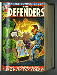 The Defenders #1-30 Plus Bound Volumes (Marvel, 1974-75). In addition to the aforementioned issues, these two hardcover...