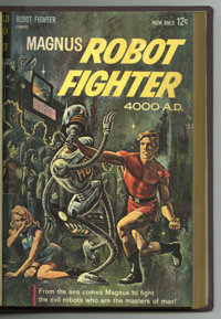 Magnus Robot Fighter #1-28 Bound Volumes (Gold Key, 1963-69). Trimmed and bound copies in two maroon-colored hardcover v...