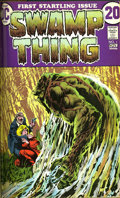 Bronze Age (1970-1979):Horror, Swamp Thing #1-16 Bound Volume (DC, 1972-75). Trimmed copies, boundinto a dark green hardcover volume. Most issues have Ber...