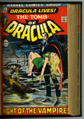 Bronze Age (1970-1979):Horror, Tomb of Dracula #1-32 Bound Volumes (Marvel, 1972-75). Trimmedcopies of #1-32 bound into two black hardcover volumes. Inclu...(Total: 2)