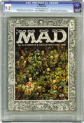 Magazines:Mad, Mad #27 (EC, 1956) CGC NM- 9.2 Cream to off-white pages. Aftercontributing to previous issues as a writer, Al Jaffee made h...