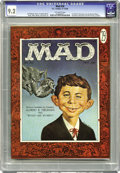 Magazines:Mad, Mad #30 (EC, 1956) CGC NM- 9.2 Off-white pages. While the face ofAlfred E. Neuman as depicted here looks familiar now, this...