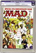 "Magazines:Mad, Mad #35 Gaines File pedigree (EC, 1957) CGC NM+ 9.6 Off-white towhite pages. It was Mad's fifth anniversary, and the ""u..."