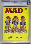 Magazines:Mad, Mad #36 Gaines File pedigree (EC, 1957) CGC NM+ 9.6 Off-white to white pages. Back in the day, who would have been able to r...