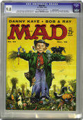 """Magazines:Mad, Mad #43 Gaines File pedigree (EC, 1958) CGC NM/MT 9.8 Off-white towhite pages. This issue features """"The End of Comics"""" paro..."""