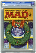 Magazines:Mad, Mad #44 (EC, 1959) CGC NM 9.4 Off-white pages. Christmas cover byKelly Freas. Back cover has the first appearance of Moxie ...