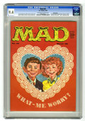 Magazines:Mad, Mad #45 Pacific Coast pedigree (EC, 1959) CGC NM 9.4 Off-white towhite pages. Parodies of comic book characters were a Ma...