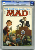 Magazines:Mad, Mad #66 Pacific Coast pedigree (EC, 1961) CGC NM 9.4 Off-white to white pages. JFK cover by Kelly Freas. Art by Mort Drucker...