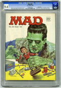 """Magazines:Mad, Mad #89 Pacific Coast pedigree (EC, 1964) CGC NM 9.4 Off-whitepages. """"Frankenstein"""" cover with art by Norman Mingo. Mort Dr..."""