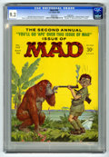 "Magazines:Mad, Mad #102 Pacific Coast pedigree (EC, 1966) CGC NM- 9.2 White pages. Norman Mingo cover. ""National Enquirer"" parody. ""Branded..."