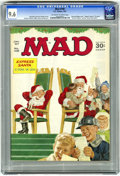 Magazines:Mad, Mad #108 (EC, 1967) CGC NM+ 9.6 Off-white to white pages. Christmas cover by Norman Mingo. Mort Drucker, Don Martin, Al Jaff...