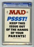 Magazines:Mad, Mad #195 Gaines File pedigree (EC, 1977) CGC NM/MT 9.8 Off-whitepages. Sometimes less is more, as is the case with the lack...