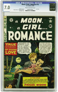 "Golden Age (1938-1955):Romance, A Moon, A Girl... Romance #12 (EC, 1950) CGC FN/VF 7.0 Cream tooff-white pages. Called ""scarce"" by both Overstreet and Gerb..."