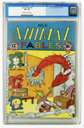 Golden Age (1938-1955):Funny Animal, Animal Fables #4 (EC, 1947) CGC VF+ 8.5 Off-white to white pages.Starring Freddy Firefly (a Human Torch parody) and Danny D...