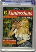 Magazines:Romance, Confessions Illustrated #1 Gaines File pedigree 5/12 (EC, 1956) CGC NM 9.4 Off-white to white pages. Bud Parke cover. Wally ...