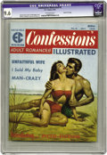 "Magazines:Romance, Confessions Illustrated #2 Gaines File pedigree 5/11 (EC, 1956) CGC NM+ 9.6 Off-white pages. With story titles like ""Unfaith..."